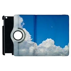 Sky Clouds Blue White Weather Air Apple Ipad 2 Flip 360 Case by BangZart