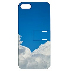 Sky Clouds Blue White Weather Air Apple Iphone 5 Hardshell Case With Stand by BangZart