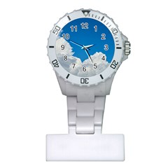 Sky Clouds Blue White Weather Air Plastic Nurses Watch