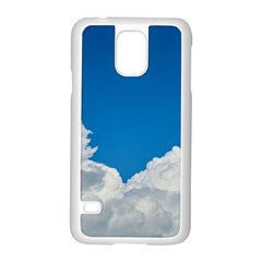 Sky Clouds Blue White Weather Air Samsung Galaxy S5 Case (white)