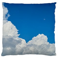 Sky Clouds Blue White Weather Air Large Flano Cushion Case (one Side) by BangZart