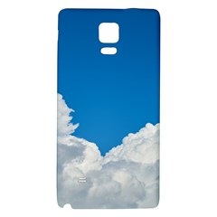 Sky Clouds Blue White Weather Air Galaxy Note 4 Back Case by BangZart