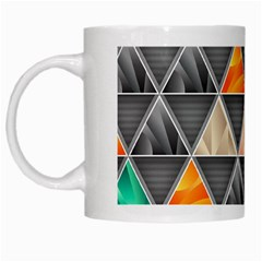 Abstract Geometric Triangle Shape White Mugs by BangZart