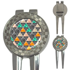 Abstract Geometric Triangle Shape 3 In 1 Golf Divots by BangZart