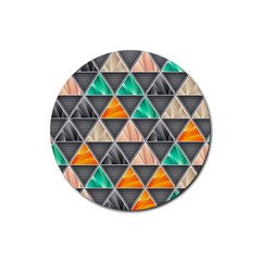 Abstract Geometric Triangle Shape Rubber Coaster (round)  by BangZart