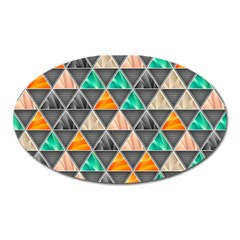 Abstract Geometric Triangle Shape Oval Magnet by BangZart
