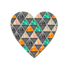 Abstract Geometric Triangle Shape Heart Magnet by BangZart