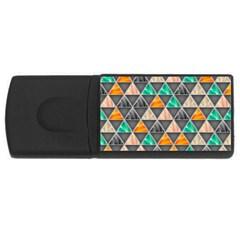 Abstract Geometric Triangle Shape Usb Flash Drive Rectangular (4 Gb)