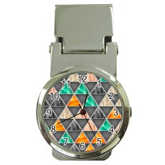 Abstract Geometric Triangle Shape Money Clip Watches by BangZart
