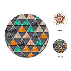 Abstract Geometric Triangle Shape Playing Cards (round)  by BangZart