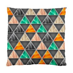 Abstract Geometric Triangle Shape Standard Cushion Case (two Sides)