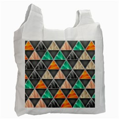 Abstract Geometric Triangle Shape Recycle Bag (two Side)