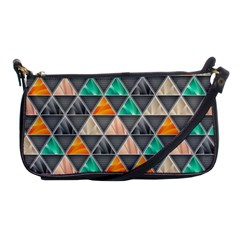 Abstract Geometric Triangle Shape Shoulder Clutch Bags