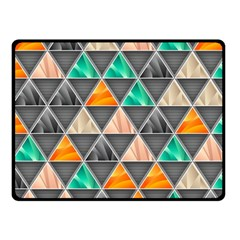 Abstract Geometric Triangle Shape Fleece Blanket (small) by BangZart