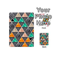 Abstract Geometric Triangle Shape Playing Cards 54 (mini)  by BangZart