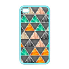 Abstract Geometric Triangle Shape Apple Iphone 4 Case (color) by BangZart
