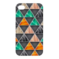 Abstract Geometric Triangle Shape Apple Iphone 4/4s Premium Hardshell Case