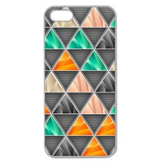 Abstract Geometric Triangle Shape Apple Seamless Iphone 5 Case (clear) by BangZart