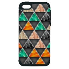 Abstract Geometric Triangle Shape Apple Iphone 5 Hardshell Case (pc+silicone)