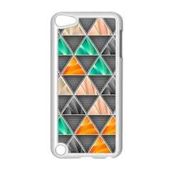 Abstract Geometric Triangle Shape Apple Ipod Touch 5 Case (white) by BangZart