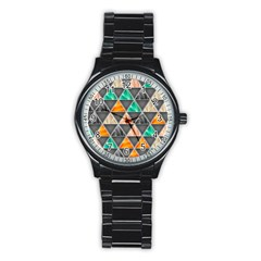 Abstract Geometric Triangle Shape Stainless Steel Round Watch by BangZart