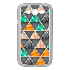 Abstract Geometric Triangle Shape Samsung Galaxy Grand Duos I9082 Case (white) by BangZart