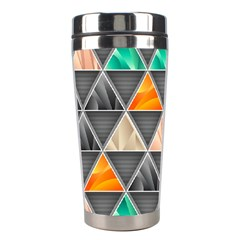 Abstract Geometric Triangle Shape Stainless Steel Travel Tumblers by BangZart