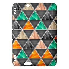 Abstract Geometric Triangle Shape Kindle Fire Hdx Hardshell Case by BangZart