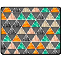 Abstract Geometric Triangle Shape Double Sided Fleece Blanket (medium)  by BangZart