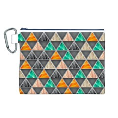 Abstract Geometric Triangle Shape Canvas Cosmetic Bag (l) by BangZart