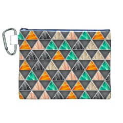 Abstract Geometric Triangle Shape Canvas Cosmetic Bag (xl) by BangZart