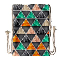 Abstract Geometric Triangle Shape Drawstring Bag (large)