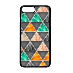 Abstract Geometric Triangle Shape Apple Iphone 7 Plus Seamless Case (black)