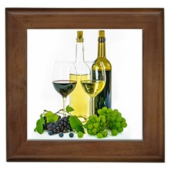 White Wine Red Wine The Bottle Framed Tiles by BangZart