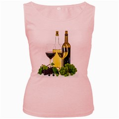 White Wine Red Wine The Bottle Women s Pink Tank Top