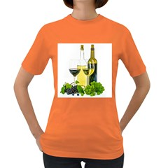 White Wine Red Wine The Bottle Women s Dark T Shirt