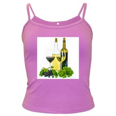 White Wine Red Wine The Bottle Dark Spaghetti Tank