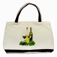 White Wine Red Wine The Bottle Basic Tote Bag (two Sides)