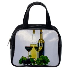 White Wine Red Wine The Bottle Classic Handbags (one Side) by BangZart