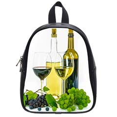 White Wine Red Wine The Bottle School Bags (small)  by BangZart