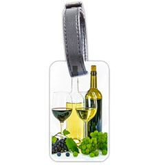 White Wine Red Wine The Bottle Luggage Tags (one Side)