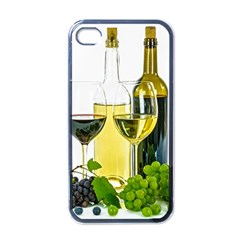 White Wine Red Wine The Bottle Apple Iphone 4 Case (black)