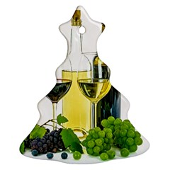 White Wine Red Wine The Bottle Christmas Tree Ornament (two Sides)