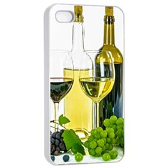 White Wine Red Wine The Bottle Apple Iphone 4/4s Seamless Case (white)
