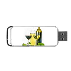 White Wine Red Wine The Bottle Portable Usb Flash (two Sides) by BangZart