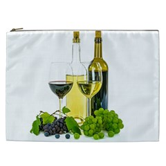White Wine Red Wine The Bottle Cosmetic Bag (xxl)