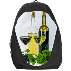 White Wine Red Wine The Bottle Backpack Bag by BangZart