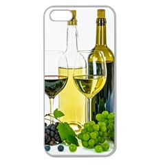 White Wine Red Wine The Bottle Apple Seamless Iphone 5 Case (clear)