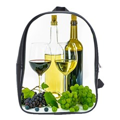 White Wine Red Wine The Bottle School Bags (xl)  by BangZart