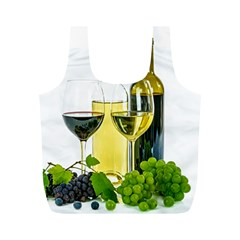 White Wine Red Wine The Bottle Full Print Recycle Bags (m)
